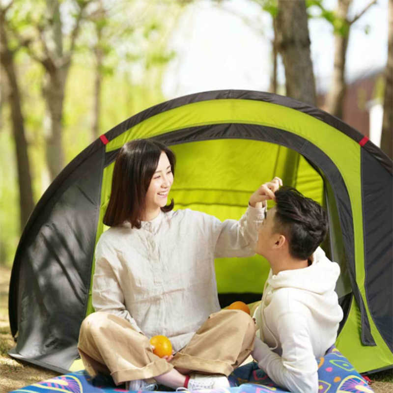 572645eeeba ... Xiaomi Zaofeng 3-4 People Automatic Camping Tent Outdoor Waterproof Double  Layer Canopy Sunshade Fast ...