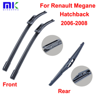QEEPEI Wiper Blades For Renault Megane Hatchback 2006 2008 Combo High Quality Front And Rear Windscreen