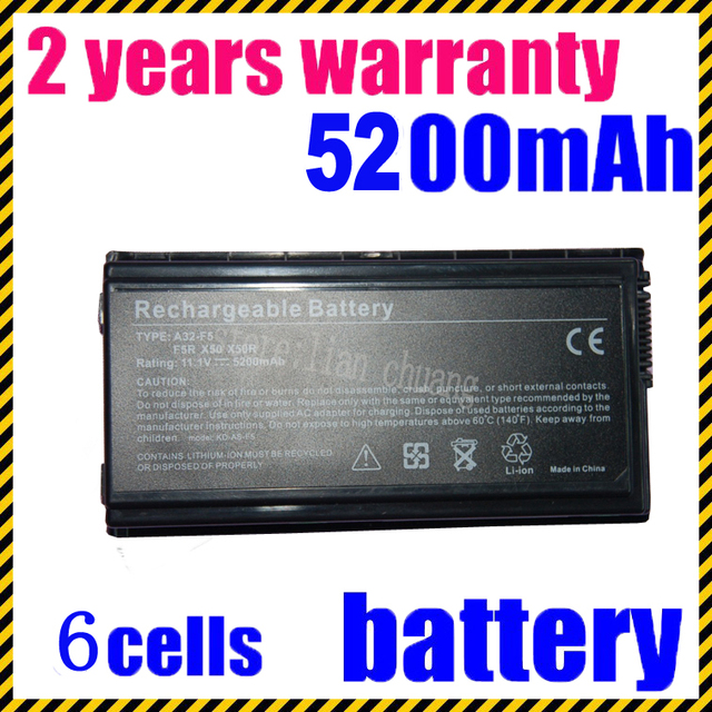JIGU [Specil Price] New Laptop Battery For Asus F5 F5N F5R X50C X50M X50N X50R X50RL X50 X50V Series , A32-F5 ,
