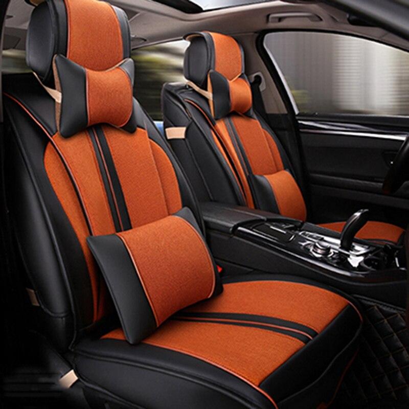 Универсальный кожаные чехлы для сидений автомобиля Citroen C3 XR C4 кактус C2 C3 Aircross внедорожник DS автомобильные аксессуары наклейки для автомобил