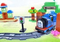 BP15111811 Coule Sous Pression Enfants Jouets Thomas train Jouet Modèle Voitures en bois puzzle Bâtiment slot piste Rail transit électrique rail train