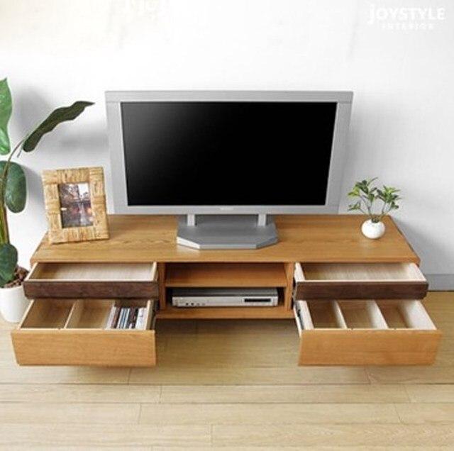 Estilo japonés de madera sólida pura TV chino TV gabinete roble mesa ...