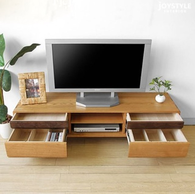 Japanese style pure solid wood TV cabinet Chinese TV cabinet oak ...