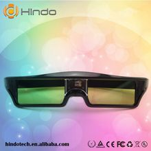 3 sztuk DLP Link 3D aktywne okulary migawkowe dla Sharp LG Optoma NEC Acer Dell Vivitek BenQ Mitsubishi DLP-LINK projektor tanie tanio Podwójny Migawki HINDOTECH HD KX30 Wciągające Active Shutter DLP LINK 3D Ready Projectors 96-144HZ