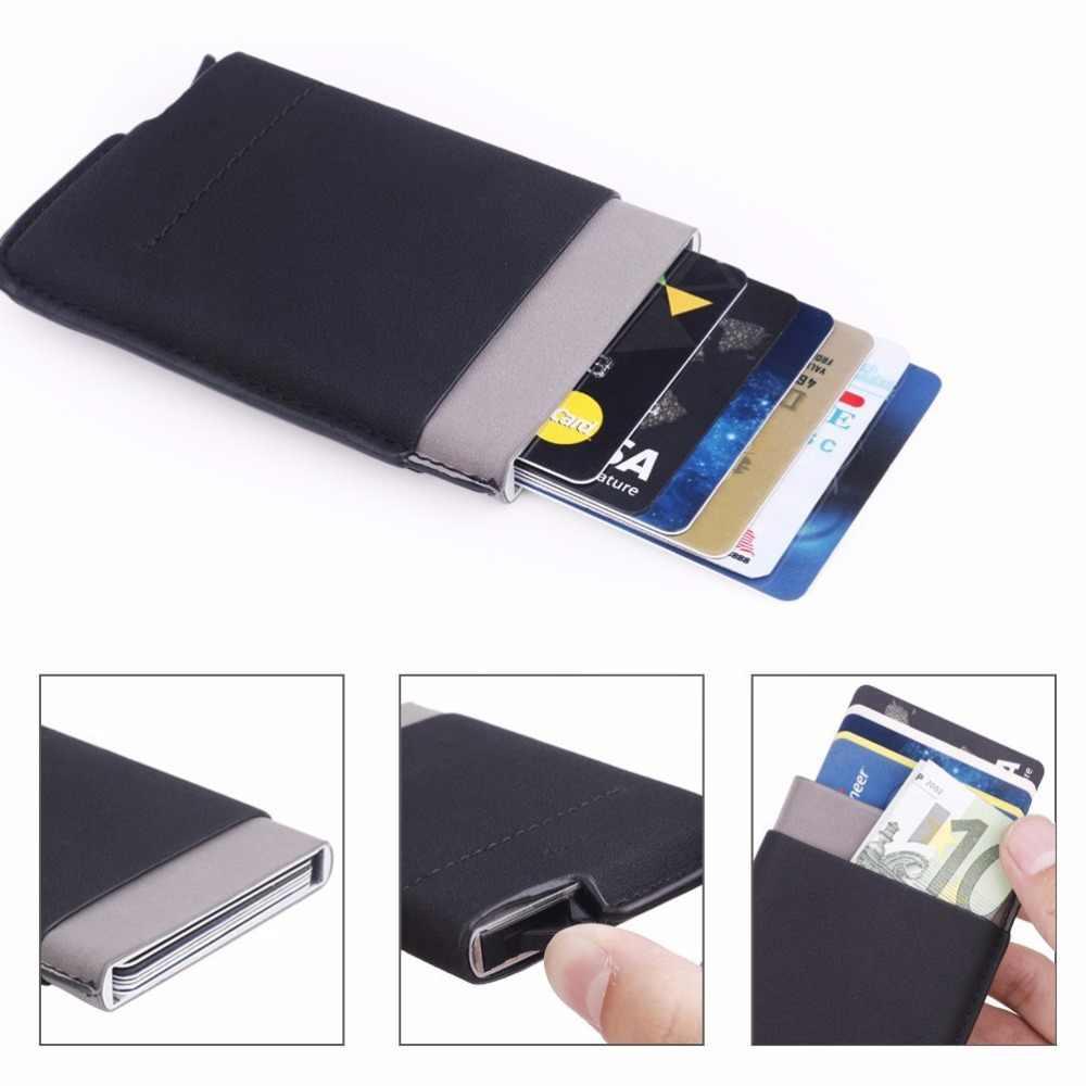 Автоматическая Pop up нажмите слайдер; держатель для карт чехол для банковских карт Алюминий сплав чехол для банковских карт