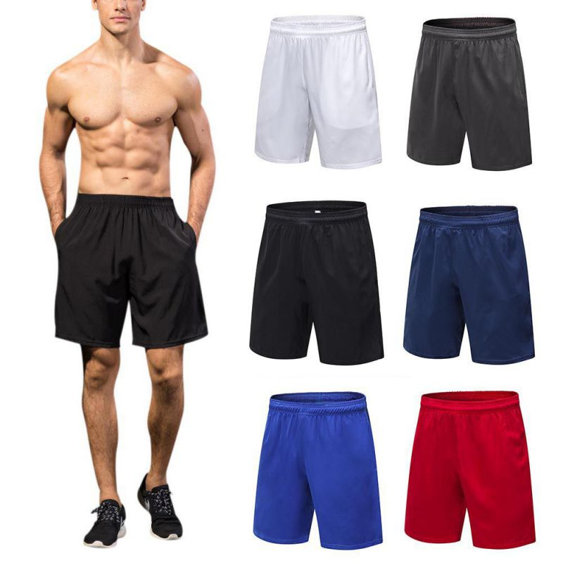 2018New Running Shorts Men Compression Marathon Quick Dry Gym Tights Sport Shorts With Pocket Plus Size Running Shorts Men drawstring plus size sweat shorts