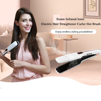 Professional Steam Hair Brush Steampod Fast Hair Straightener Electric Ionic Comb Spray Vapor Infrared Flat Iron Styling Tools