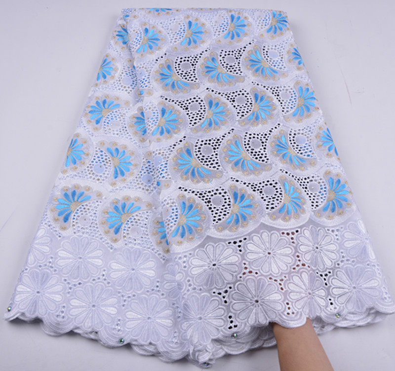 African Dry Lace Fabric High Quality For Men Cotton Lace French Lace Fabric With Stones Swiss