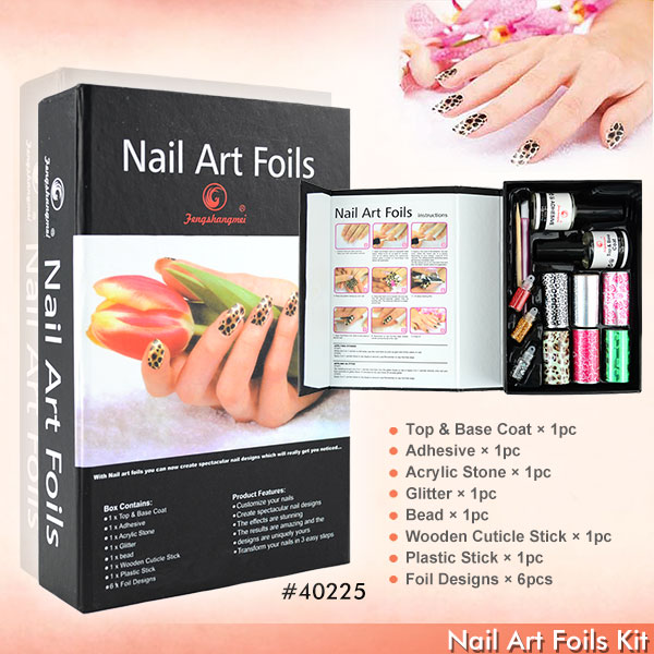 Aliexpress.com : Buy #40225 cheap nail foil,nail sticker kit ...