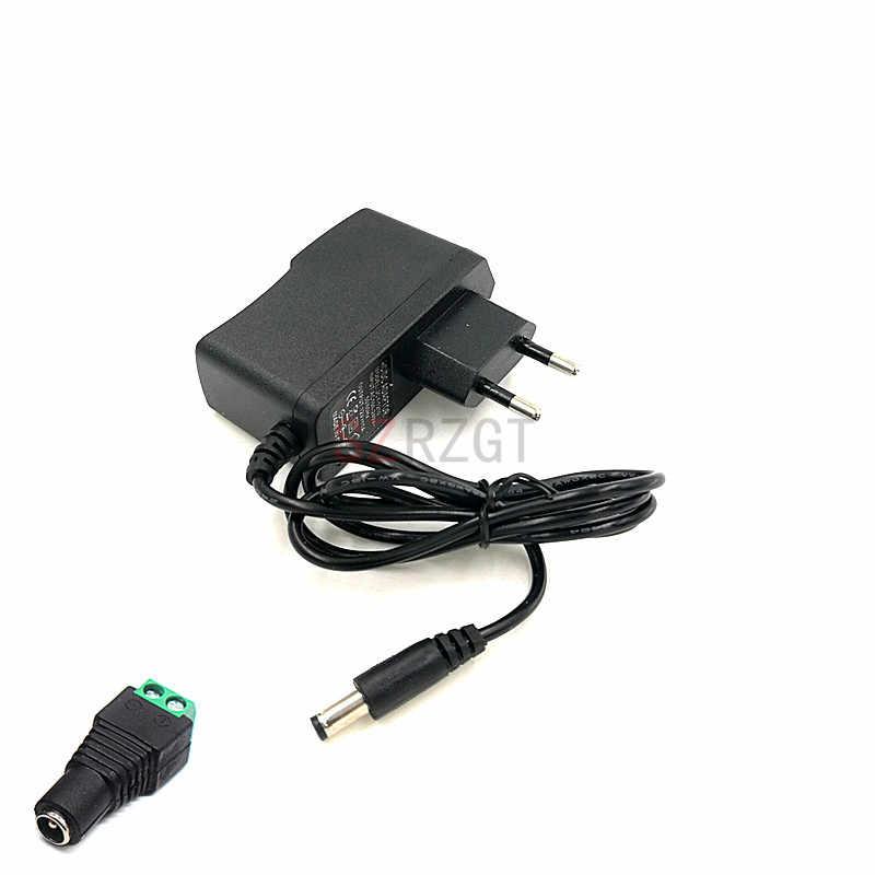Ue wtyczka AC 100-240V do DC 12V 1A 2A 3A 12W 24W 36W adapter do zasilacza przewód do taśmy LED/ze złączem