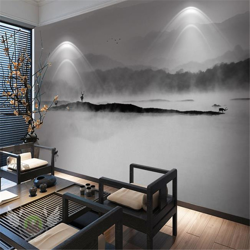 Custom 3D Wallpapers Chinese Style Wall Murals Landscape Painting Wallpapers for Wall 3D Living Room Background Wallpaper japanese style wallpapers for living room 3d flooring wood wall paper pvc living walls wallpapers roll 3d wall murals wallpaper