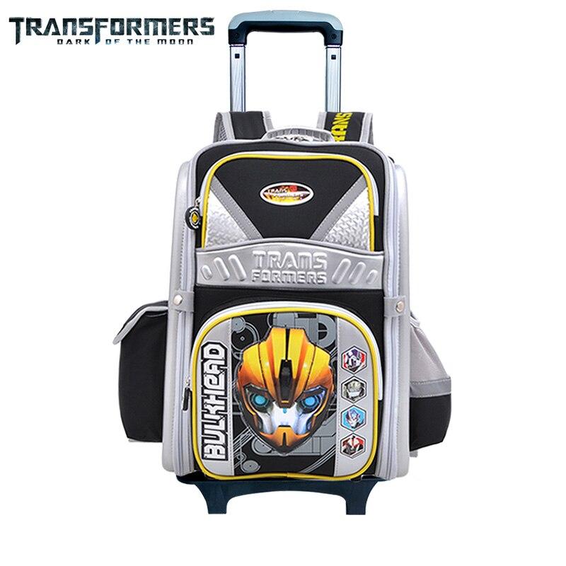 Sacs d'école de transformateurs sac à dos de chariot à enfants sacs de voyage à roulettes avec la couverture imperméable c'est alléger la charge pour des enfants