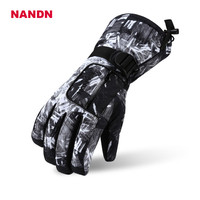 Men S Ski Gloves Winter Waterproof Snowboard Ski Gloves Leather Snowmobile Riding Motorcycle Nandn Windproof Snow