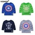 Vidmid niños t-shirt boy camisetas ropa niños chaqueta de diseñador de la marca del tigre de algodón suéter de los cabritos tops de las camisetas 1001