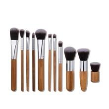 11pcs/set Makeup Brushes Set Powder Foundation Eyebrow Facial Brush Cosmetics Make up Tools Professional