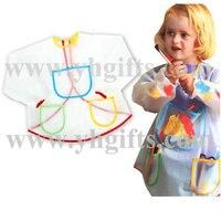 1PC LOT PVC Waterproof Children S Apron PVC Bib Paint Apron Protect Cloth Clear Sleeved Apron