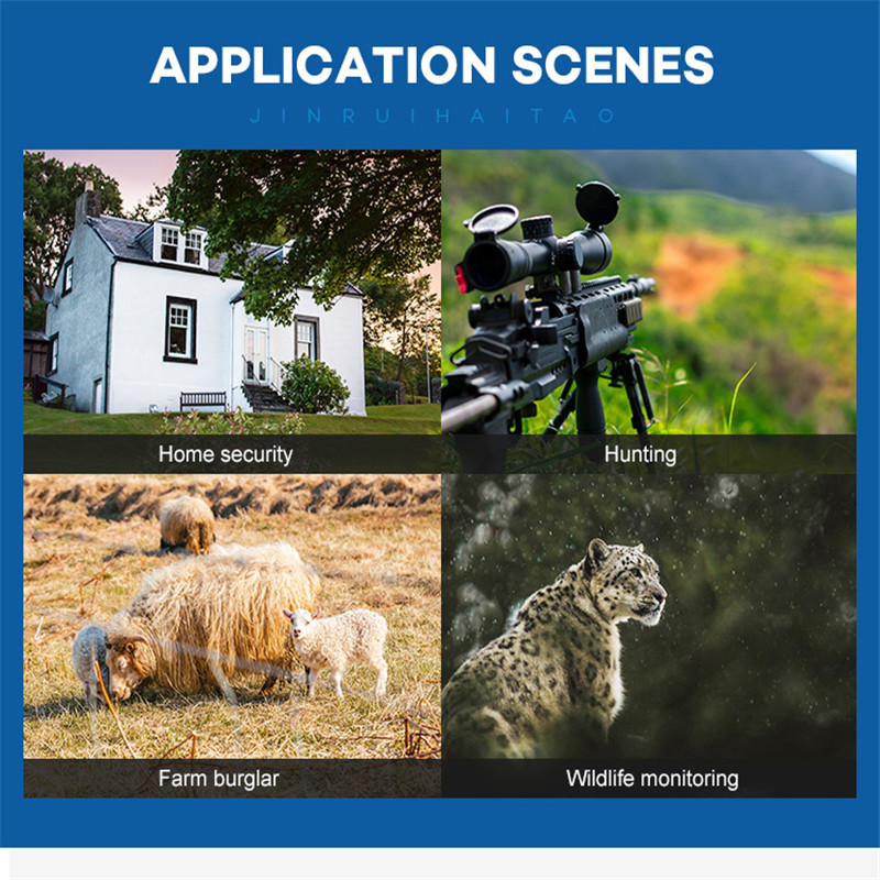 Nouvelle caméra de chasse GPS sans fil 4G LTE télécommande APP contrôle Camo chasse jeu piste caméra faune Photo piège Scouts HC-801A - 6