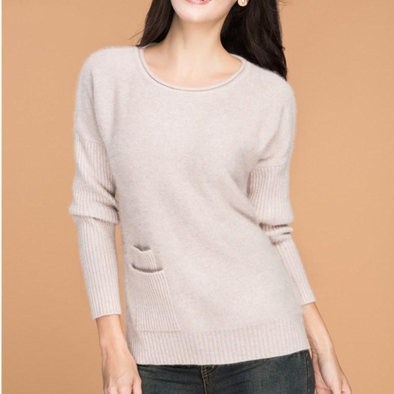 El último estilo Engrosado Suéter de Cachemira pura femenina Delgada de punto La