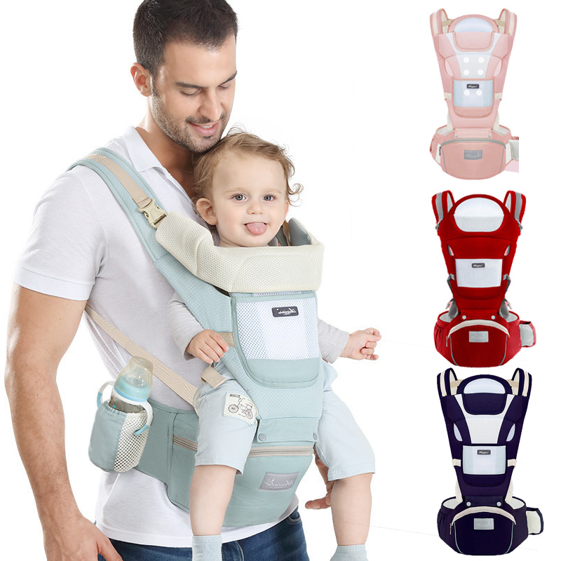 Baby Carriers Breathable Baby Carrier Wrap Safety Odorless Kangaroo Bag For Baby Newborn Waist Stool Baby Care Accessories