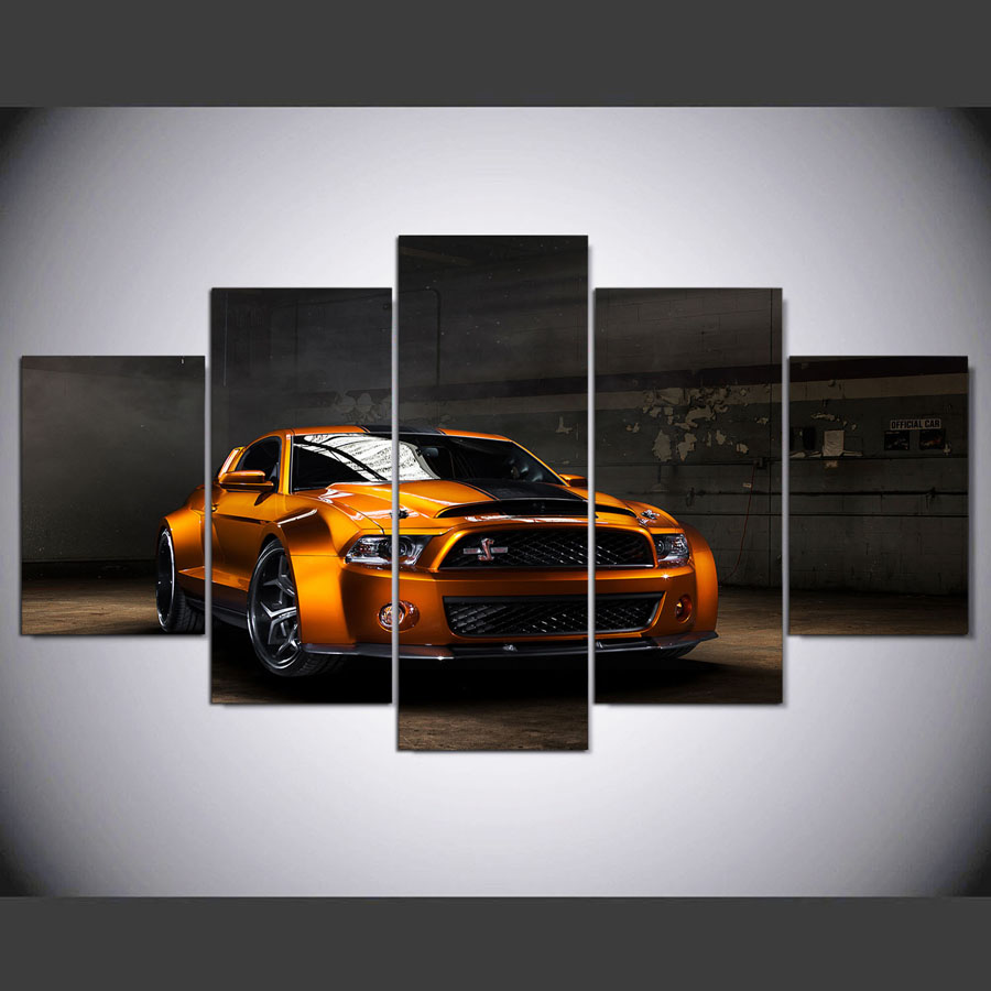 Image Is Loading Ford Mustang Wide Body CAR 5 Piece Canvas