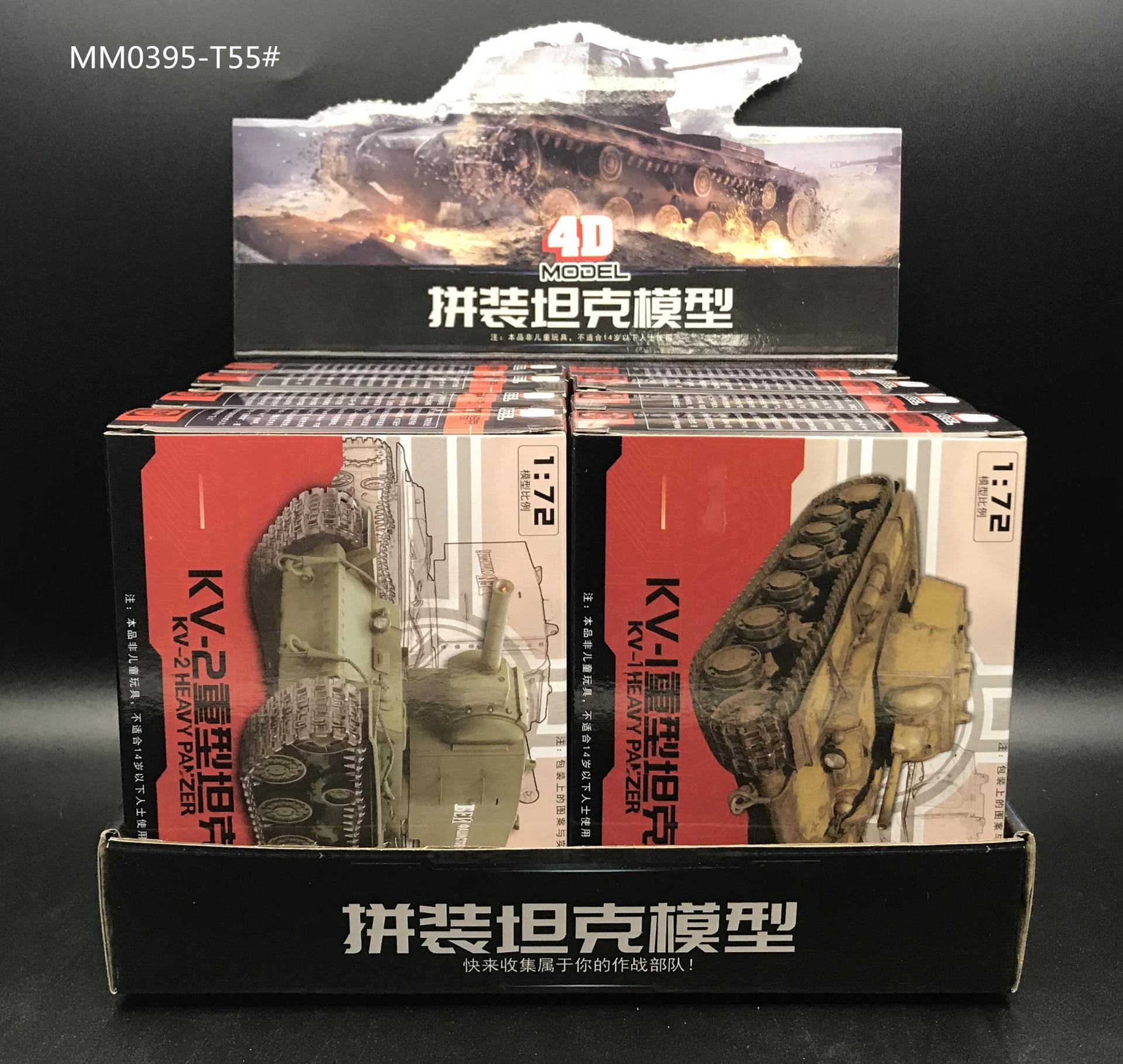8PCS 1:72 4D Assemble Tank Model 3th Generation Sherman Challenger DIY Puzzle Plastic Assembly Free Assemble Military Model