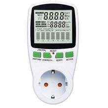 Digital LCD Energy Meter Wattmeter Wattage EU Electricity Kwh 230V-250V Power Meter Measuring Outlet Power Analyzer цены