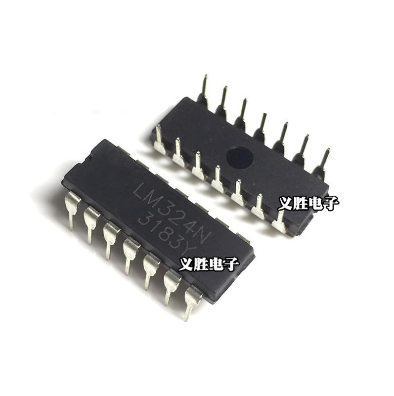 50pcs TL074 TL074CN IC OP AMP QUAD JFET DIP-14