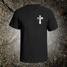 Cross graphic tee shirt jesus christian god inspiration holy bible acts crucifix(China)