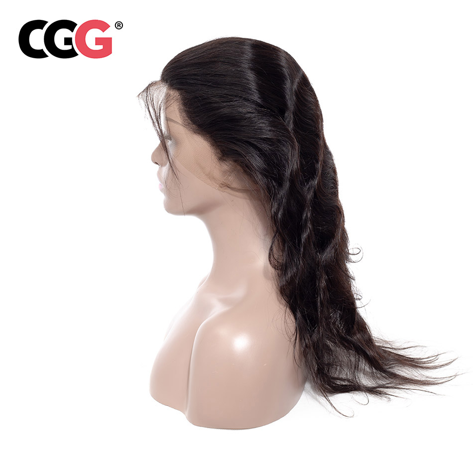 CGG Hair 100% Body Wave Non Remy 360 Lace Frontal 8-20 Inch Free Part Hair Closure Natural Color Human Hair Free Shipping