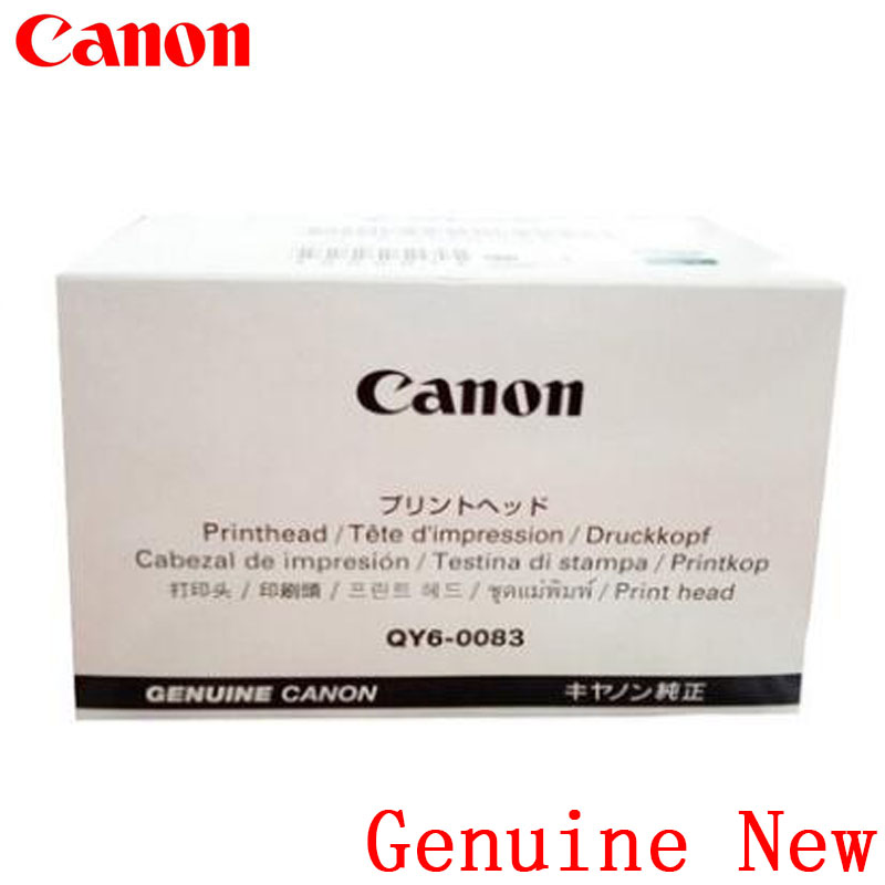 Genuine New QY6-0083 Printhead Print head Canon MG6380 MG7180 MG7580 MG7780 IP8780 qy6 0083 refurbished printhead for canon mg6350 mg6380 mg7180 ip8780 printer accessory only guarantee the quality of black