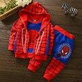 Homem Aranha Spiderman Crianças Meninos Conjunto de Roupas de Bebê Menino Ternos Esportivos 1-4Y Crianças 3 pcs Conjuntos de Roupas Primavera Outono Treino meninos