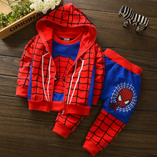 Spiderman Children Boys Clothing Set Baby Boy Spider Man Sports Suits 1-4Y Kids 3pcs Sets Spring Autumn Clothes Tracksuits Boys
