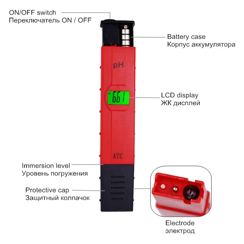 Pero typu Digitální akvárium PH měřič teploty Kompenzace ATC - Měřicí přístroje - Fotografie 4