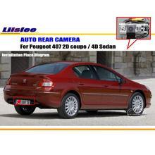 Камера заднего вида для peugeot 407 2D coupe/4D Sedan/камера заднего вида/HD CCD RCA NTST PAL/светильник номерного знака