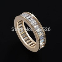 Victoria Wieck Brand Jewellery Princess Cut Simulated Diamond Gemstones 10KT Gold Filled Ring Sz 5 10