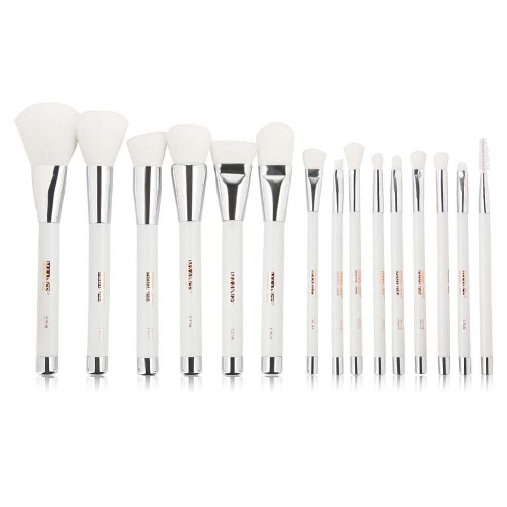 MAANGE Makeup Brush Professional 15PCS  Make Up Foundation Eyebrow Eyeliner Blush Cosmetic Concealer Brushes pincel maquiagem professional bullet style cosmetic make up foundation soft brush golden white