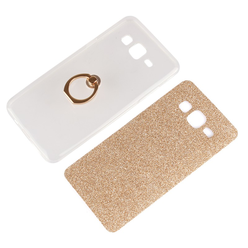 Imprint Butterfly Synthetic Phone Case With Handle Strap For Samsung