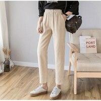 Babbytoro Women Leggings 2019  Corduroy Loose Jeggings Pants Ankle Length Plus Size 4xl 2xl L Khahi Brown Pantalon