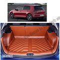 free shipping 5d full cover fiber leather waterproof car trunk mat for volkswagen golf7 golf Mk7 2013 2014 2015 2016