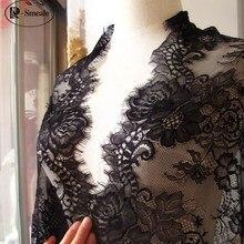 3 м/лот кружевная ткань для ресниц 64 см DIY декоративная Высококачественная мягкая Белая нейлоновая кружевная отделка для ресниц ткань для свадебного платья RS326