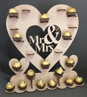 MR MRS Wedding ANNIVERSARY CELEBRATION PARTY Table Chocolate Sweet Candy Display