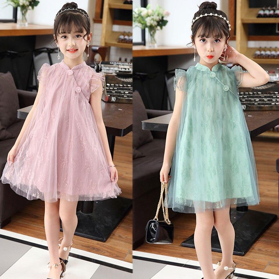 Summer 2018 New Fashion Girls Dress Princess Dress Sleeveless Small Floral Design for Girls Clothes Party Dress 110-160 Clothes fashion girls dress 2018 summer new