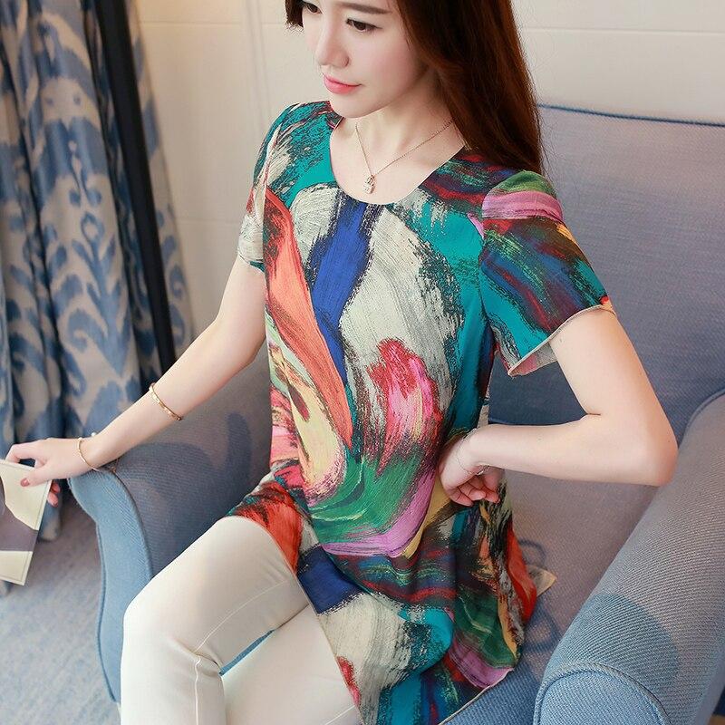 Women Blouses Chiffon Blouse Women Summer Woman Floral Shirts Blouses Female Plus Size Tops Casual Boho Blouse Woman Ladies Tops