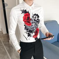 ZEESHANT 2018 Spring Autumn Features Shirts Men Casual Dress Party Shirt New Arrival Long Sleeve Casual