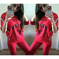 S XL 2016 Aliexpress Hot Spring Leisure Sport Suit European Station Explosion