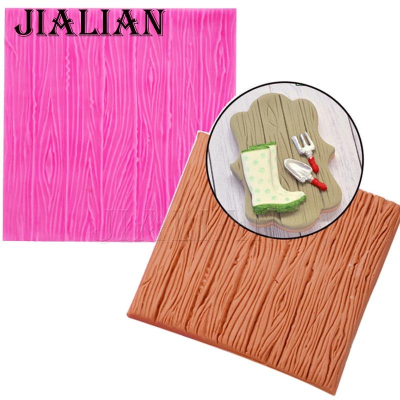 Corteza patrón de encaje Forma Corteza textura Molde de silicona para la decoración de pasteles DIY cocina Accesorios para hornear T0732