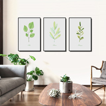Canvas Paintings Minimalist Plant Foliage Living Room Decorative Green Wall Art Posters And Prints Pictures