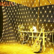 Net LED String Lichter 8 Modi 220V 1 5 #215 1 5 m 3X2M Festival Weihnachten Dekoration Neue Jahr Hochzeit Party wasserdicht cheap WELPUR christmas tree CN (Herkunft) String Lights Net Wechselstrom die Perlenkette warm white blue rgb white 100led 200LED