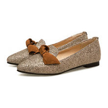 Size 33-43 Women Plus Size Sequined Flats Shoes Female Slip-on Shallow Shoes 3b78ae8506d7
