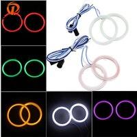 70mm Car Auto Angel Eyes Headlight COB Halo Ring LED Light Lamp White Yellow Blue Red